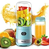 Portable Mini Blender, Personal Blender USB Rechargeable for Smoothies and Shakes with 2...
