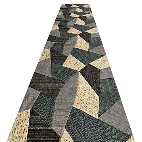 WenFei shop Runner Rugs for Hallway Modern Geometric, Non-Slip Carpet Runner, Corridor Carpet for Kitchen Living Room Bedroom, Multiple Sizes