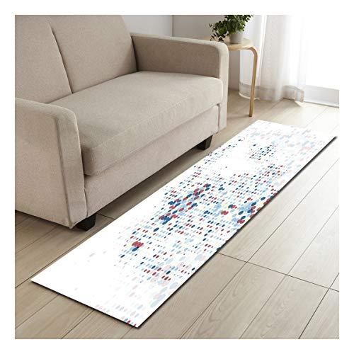 WFL-Alfombra para sala de estar, cocina, sofá, armario, zapatos, alfombra de tiras largas, alfombra de poliéster moderna, alfombra para decoración del hogar (color: F, tamaño: 60 x 90 cm)