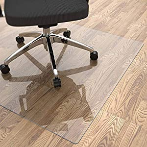 """Yecaye Office Chair Mat for Hardwood Floor, 48""""×36"""" 2mm Thick, Office Floor Mat, Computer&Desk Chair Mat, Clear Heavy Duty Floor Protectors Mats for Rolling Chairs, Can't be Used on Carpet Floor by Yecaye Products, LLC"""