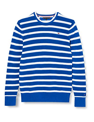 Tommy Hilfiger Nautical Stripe Sweater Sudadera, Azul (Lapis Lazuli 431/880 C5d), Talla Única (Talla del Fabricante: 80) para Niños