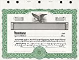Goes KG2 Stock Certificate, Green, 15-Pack