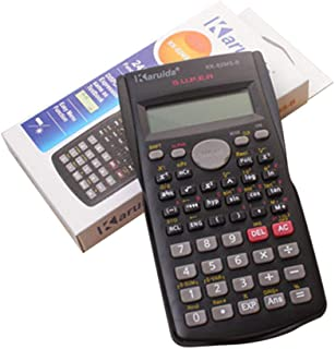 quanjucheer Portable Scientific Calculator Solar Power 12 Digits Student School Study Supply Black
