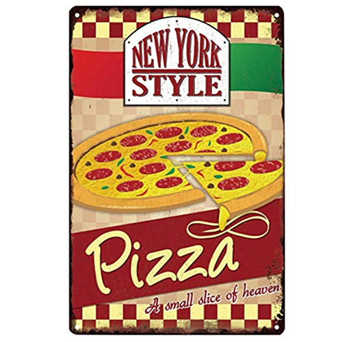 Mainstayae Pizza Sign Retro Tin Plate Painting Metal Picture Wall Decoration For Pizzeria Restaurant Dining Room 20x30cm 9