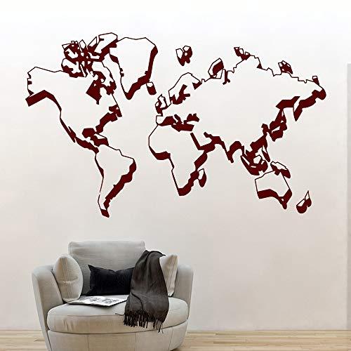 Etiqueta de la pared mapa del mundo 3D accesorios para el hogar global dormitorio habitación de los niños decoración de la oficina fondo pared arte calcomanía mural cartel fondo de pantalla