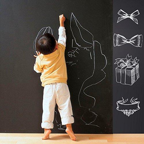 Tableau noir autocollant mural Peinture – Peel et Stick Blackboard Tableau blanc Feuille de vinyle Stickers Papier peint pour enfant école Office Home