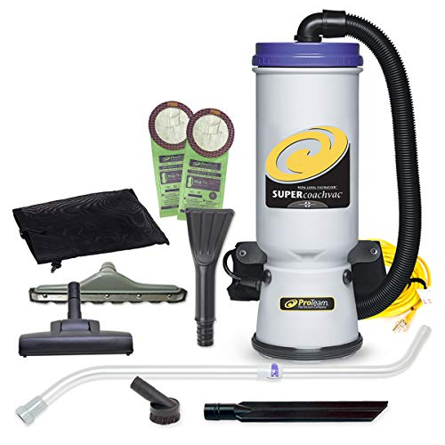 ProTeam Commercial Backpack Vacuum Cleaner, Super CoachVac Vacuum Backpack with...