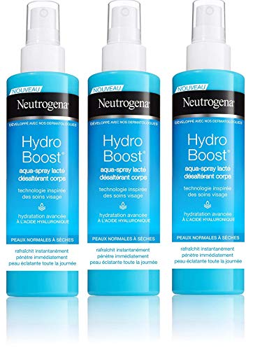 Neutrogena Hydro Boost Agua Spray - 200 ml x 3 unidades