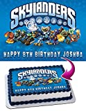 Skylanders Edible Image Cake Topper Party Personalized 1/4 Sheet