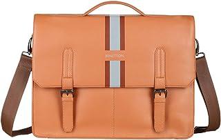 United Colors of Benetton 31 cms Brown Laptop Messenger Bag (0IP6LBM01A06I)