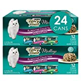 Two (2) Packs Of Twelve (12) 3 Oz. Cans - Purina Fancy Feast Medleys Florentine Collection Adult Wet Cat Food Variety Pack Tender White Meat Chicken, Tuna And Turkey For Delicious Flavor 100% Complete And Balanced Nutrition Accents Of Garden Greens A...