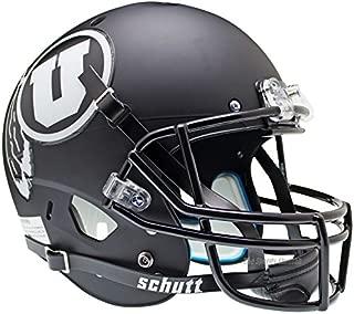Utah Utes Black White Officially Licensed Full Size XP Replica Football Helmet