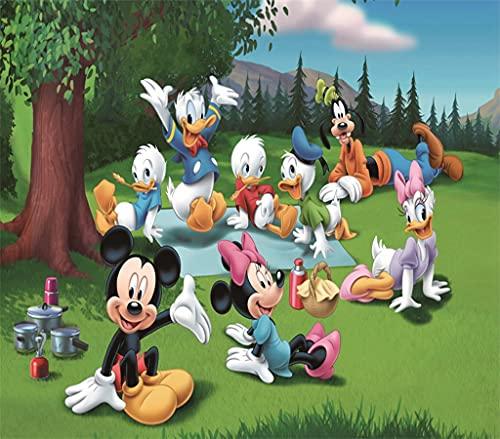 Mini Puzzle Adulto 1000 Piezas Mickey Mouse y el Pato Donald Rompecabezas De Papel Juego para Adultos Desafío de Ejercicio Cerebral RomáNtico Regalo De CumpleañOs De Navidad 38x26cm