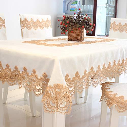 sans_marque Paño de mesa, paño de mesa de color sólido paño de mesa, a prueba de polvo y a prueba de encogimiento, utilizado para la decoración de mesa de picnic de la cocina 40* 195CM
