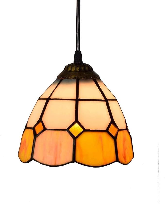 Amazon.com: SH-CHEN Hanging Lights Tiffany Style Mini Pendant Light, Orange White Glass Pendant Light,6-Inch Ceiling Hanging Lamp Fixture Shade, for Dining Room Kitchen Island Bedroom, E26/E27 Lighting Fixture : Tools & Home Improvement