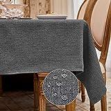 BALCONY & FALCON Mantel Rectangular Mantel Antimanchas para Cocina Mantel Impermeable para Mesa Cafetería (Gris Oscuro, 140*240cm)