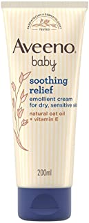 Aveeno Baby Soothing Relief Emollient Cream 200 ml - suitable for dry, sensitive skin prone to irritation