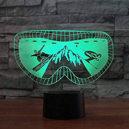 Illusion Nachtlicht Für 7 Color Changing Table Light Lamp Skibrille Für Kinder Weihnachten Geburtstag Beste Geschenk Spielzeug-Touch + Remote Control