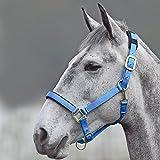 Shires Topaz 387 - Bozal para caballos de nailon, azul, SPONY