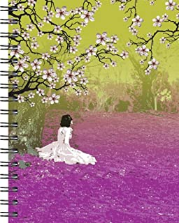 Wire-o Journal - Cherry Blossoms - Large ( Black wire-o )