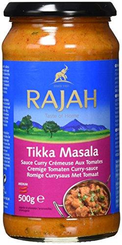 Rajah Tikka Masala – Cremige Currysauce mit Zwiebeln, Tomaten, Sahne und Joghurt – Mittelscharfe Fertigsauce – 2 x 500 g