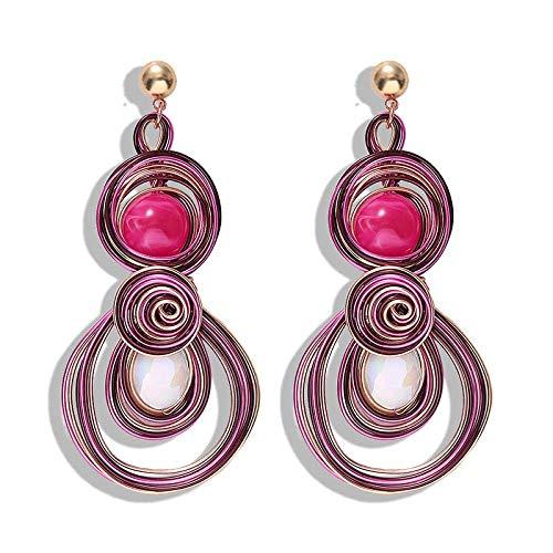Gymqian Metal Earrings Catwalk Style Women Earrings Coil Shape Woven Earrings Hoop Earrings Women Exquisite/I