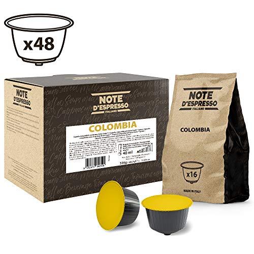Note D'Espresso - Cápsulas de café de Colombia Exclusivamente Compatibles con cafeteras de cápsulas Nescafé* y Dolce Gusto* 7g (caja de 48 unidades)