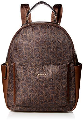 Calvin Klein Abby Nylon Backpack, Brown/Khaki