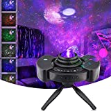 Star Projector, 4 in 1 LED Night Light Projector with Adjustable Tripod Stand, Colorful Starry Galaxy Night Light Projector for Adults Kids Bedroom Decor, Built-in Music Dual Stereo Speaker