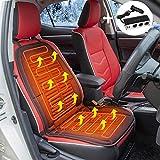 Auto Coprisedile Riscaldato, 12V Elettrico Riscaldamento Sedile Cuscino Universale per Auto con Termoregolatore per Sedia da Ufficio Casa Camion