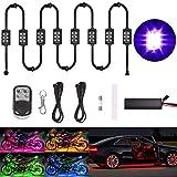 Evermotor Auto Motorrad Unterbodenbeleuchtung 8 Stücke 6 x LED Streifen Atmosphäre Leichter Kits...