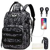 Diaper Bag Backpack with USB Charging Port Stroller...