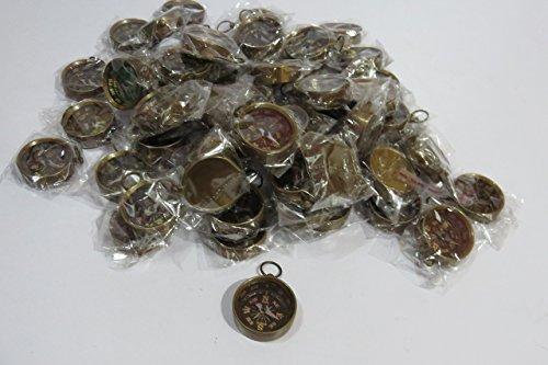 MINI BRASS COMPASS KEY CHAIN (set of 100) by NAUTICALMART