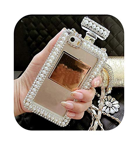 Diamond Crystal Cute Pearl Perfume Bottle Shaped Chain Handbag Case Cover for iPhone 11 12 pro max XS MAX XR 5S 6S 7 8PLUS Case