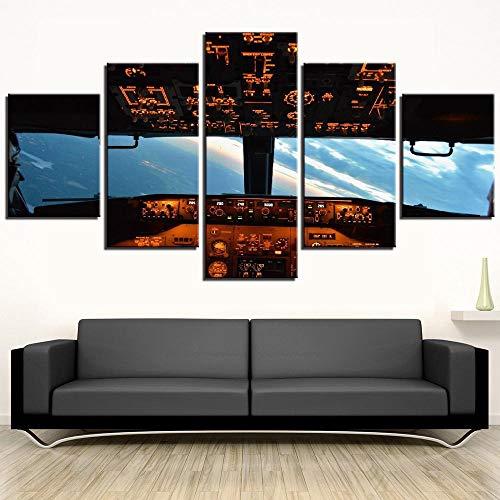WKAH 5 Piezas Impresión Lienzo Cabina Cuadros Modernos Impresión De Imagen Lienzo Decorativo para Tu Salón O Dormitorio(150X80Cm)