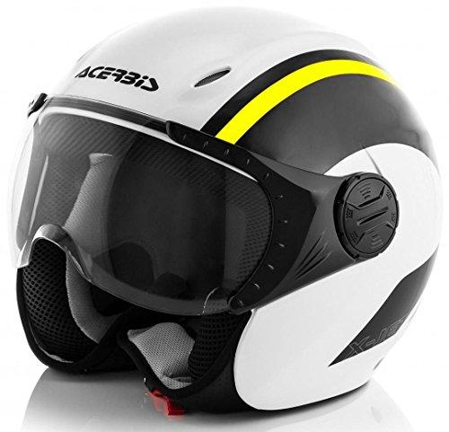Acerbis casco k-jet bianco/giallo s