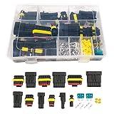 QISF 240 terminales de Conector eléctrico Impermeable para Coche, con fusibles de Cuchilla automotriz para Motocicleta, Scooter, Coche, camión, Barco, 1/2/3/4/5/6 Pines