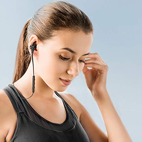 TaoTronicsTT-BH07SBK【ブラック】Bluetooth5.0aptXHDAAC対応高音質最長15時間長持ちIPX5AndroidiPhoneワイヤレスイヤホン