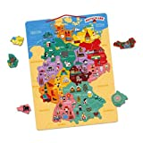 Janod, Holz-Magnetkarte von Deutschland, 79 Teile, J05477