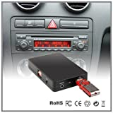 Adattatore per autoradio con interfaccia USB, SD, AUX, lettore MP3, lettore CD, per Audi