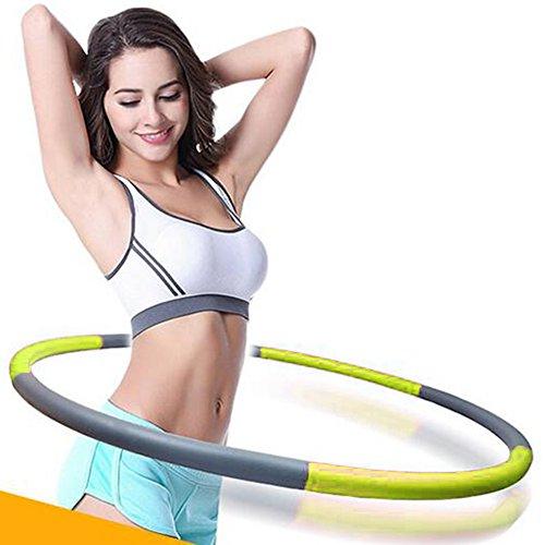 hula cerchio, CONMING Fitness Hula Hoop Esercizio regolabile per adulti e bambini Weighted Schiuma pieghevole imbottito 90 cm di larghezza