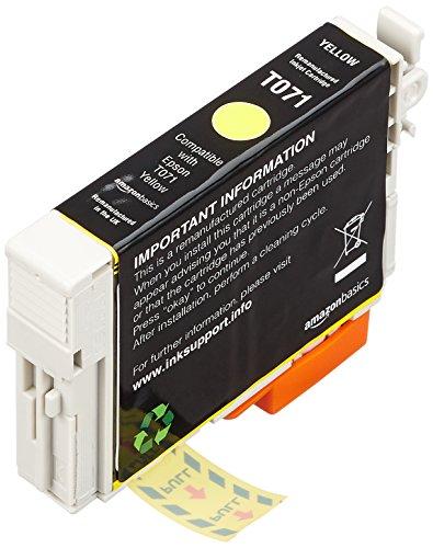 AmazonBasics Cartouche d'encre reconditionnée pour Epson T071 Jaune