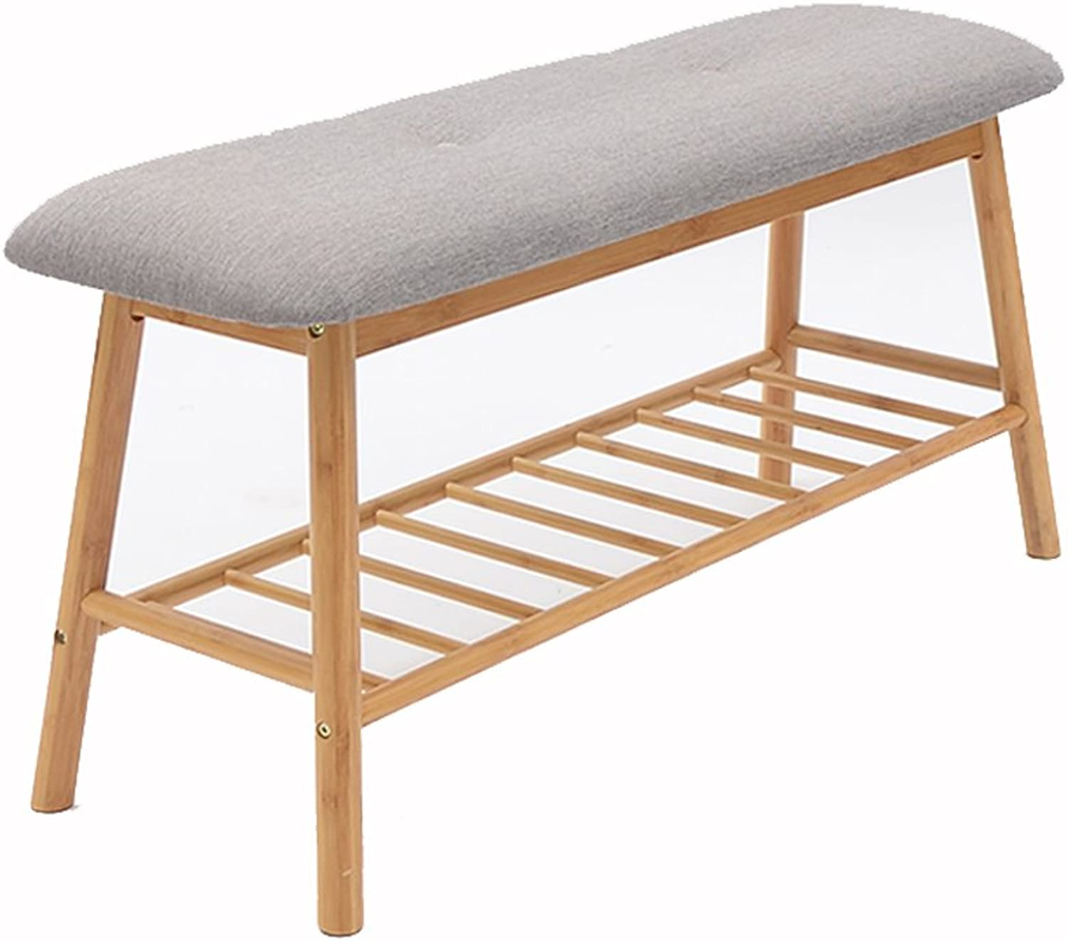 LIUXUEPING Scandinavian-Style shoes Stools to Go for shoes Stool Simple Modern shoes Cabinet Can Sit shoes Rack Solid Wood Bed Stool