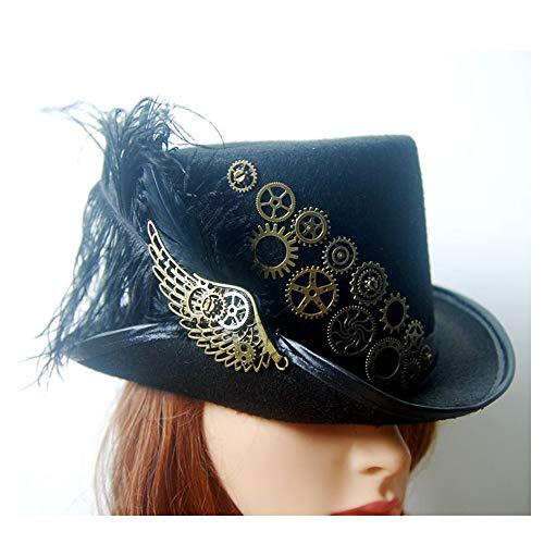 XYAL-Hats Xingyue Aile Sombrero de copa y gorras de vaquero, Steampunk