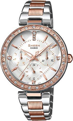 Casio Reloj Analógico para Mujer de Cuarzo con Correa en Acero Inoxidable SHE-3068SPG-7AUER