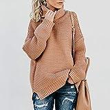 Avsvcb Otoño/Invierno suéter de Punto de Comercio Exterior Europeo y Americano línea Gruesa Manga Larga suéter de Cuello Alto Mujeres