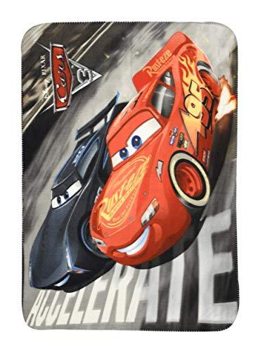 Theonoi - Manta infantil de microfibra de alta calidad, diseño de Cars de Disney Pixar, poliéster, Cars Co., 100 x 150 cm