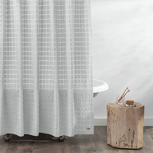 "UGG Blink Eyelash Shower Curtain for Bathroom - Stone - 72"" x 72"""