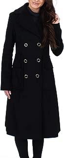 Ivanka Trump Women's Wool Texture Double Breasted Midi W/Large Pockets