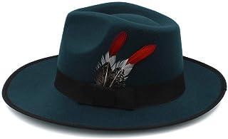 EOZY-Cappello Panama Vintage Uomo Donna Unisex Fedora in Cotone Classico Bombetta Jazz Berretto Tinta Unita